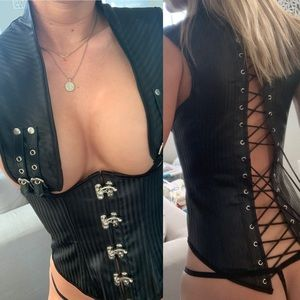 Steampunk Dominatrix Corset Bustier Cosplay Top
